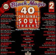 VARIOUS Black Magic 40 Original Soul Tracks UK vinyl LP EXCELLENT CONDITION