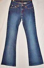 Luna Blue Jeans Stretch Flare Leg Low Rise Denim Pants size 0 Vintage