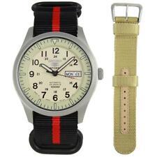 Seiko 5 Automatic Analog Male Watch SNZG07 SNZG07J1 with Free Nylon Bracelet
