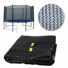 14FT  8 POLES REPLACEMENT TRAMPOLINE SAFETY NET ONLY ENCLOSURE SURROUND