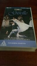 GISELLE  THE LA SCALA BALLET- ALESSANDRA FERRI-.VIDEO ARTS VHS SEALED VIDEO