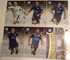 2017 TOPPS PREMIER GOLD SOCCER LEICESTER TEAM SET 6 CARDS + KING POWER CARD