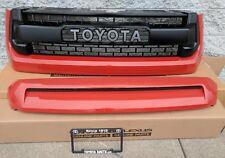 Toyota Tundra 2014 - 2018 TRD PRO Hood Bulge & Grille Orange Inferno 4X0 New OEM