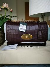 Authentic Mulberry Medium Lily  OXBLOOD Croc BNWT Sold Out £1000 With Dust Bag