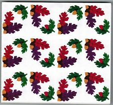 Mrs Grossman's Reflections ACORNS Fall Oak Leaves Scrapbook Stickers! 3 Strips