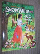 Whitman 1972 Disney Snow White and The Seven Dwarfs Paper Dolls