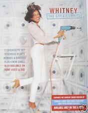 """Whitney Houston """"Greatest Hits"""" U.S. Promo Poster - Whitney Smiling With Drill"""