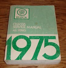 Original 1975 Buick Chassis Service Shop Manual All Series 75
