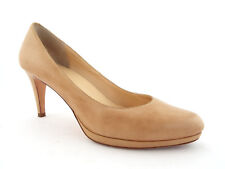 COLE HAAN Size 10 Beige Leather Heels Pumps Shoes