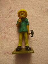 """1980 Wilton Cake Topper """"All Thumbs"""" Handyman Carpenter 4 7/8inches"""
