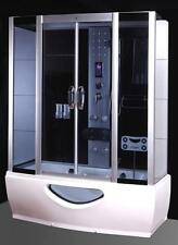 Cabina Idromassaggio 170x80 Box doccia Vasca Sauna con Bagno Turco cromoterapia