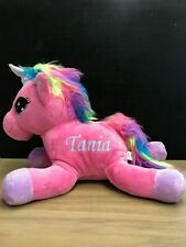 Personalised Printed Unicorn Soft Toy
