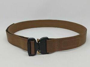 "Blue Alpha EDC Belt 1.5"" - Brown with Black COBRA® Buckle - Size 32 - **NEW**"