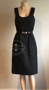VERONIKA MAINE Black Shift Dress Size 6 With Pockets