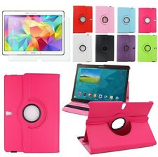 New 360 Rotating & Folding Leather Stand Case Cover For Samsung Galaxy Tablets