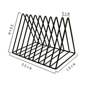 Triangle Bookshelf Metal LP Record Holder Magazine Table Rack Files Tidy U4R6