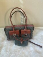 Dooney & Bourke Double Pocket Tote  WITH WRISTLET