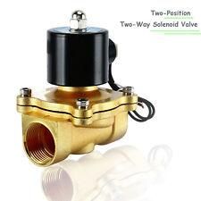 1 Inch AC110V Brass Electric Solenoid Valve 1'' NPT Gas Oil Diesel Water Air N/C