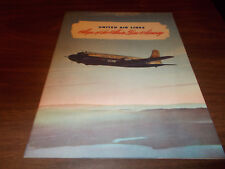 1946 United Airlines System Map 34-page Brochure / Excellent item !!