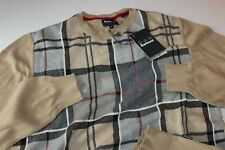Barbour International Sweater Downfield Crew Stone MKN0626ST71 XX-Large XXL UK