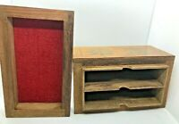 recipe cooking wooden index box card vintage file filing decorate wood 5x3 in bd