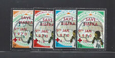 BIAFRA Mi 50-53 MLH CHILDREN, RED CROSS OVERPRINTS