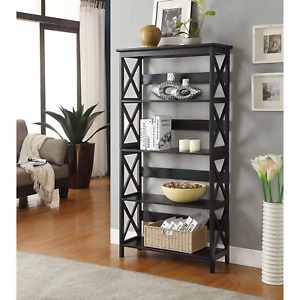 Convenience Concepts Oxford 5 Tier Bookcase, Multiple Finishes