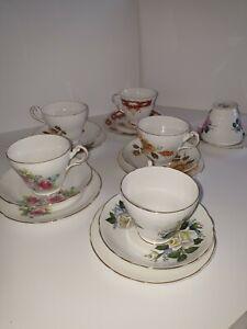 Bone China English Regency Tea Cup Trio Sets L@@K