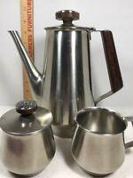 International Decorator 18/8 Stainless Steel Coffee Sugar Creamer Japan
