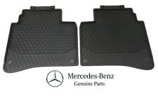 Genuine For Mercedes Benz V222 S-Class Rear All Weather Rubber Black Floor Mats