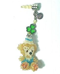 Disney Cute Duffy Bear Head cell phone charm Jack plug dust Decoration Toy Kids