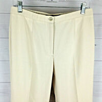 TRIBAL extensible womens size 8 stretch solid beige mid rise tapered crop pants