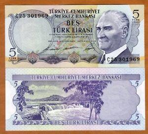 Turkey, 5 Lira, L. 1930 (1968), P-179, UNC