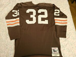 Mitchell Ness M&N Cleveland Browns Authentic Jim Brown Jersey DURENE USA 2XL 52