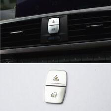 2pcs Control Warning Light Button Decor Cover Trim For BMW F20 F30 F22 F23 F36