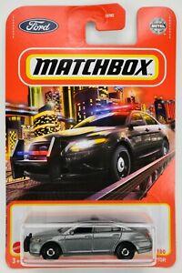2021 Matchbox #95 Ford Police Interceptor SILVER / UNMARKED POLICE CAR / MOC