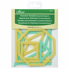 Clover Patchwork Templates: Square/Octagon Set Of 7