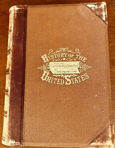 A Popular History of The United States, John Clark Ridpath 1877, Leather, VG+