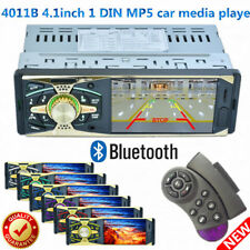 4.1inch 1 DIN HD Car Radio Bluetooth Stereo Player MP3/WMA/WAV USB/AUX W/Remote