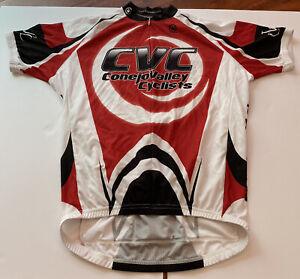 Canari Conejo Valley Cyclist Team Jersey Red White Black 90% Zip - Men's XL