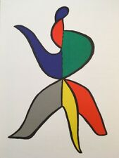 Alexander Calder, Vintage Original Lithograph, Maeght Paris, 1963 DLM Stabiles,