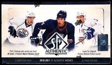 2010-11 SP Authentic Hockey Hobby Factory Sealed Box (3 Auto's/Box)