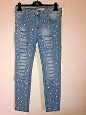 Karostar Baggy Jeans NEU Perlen Glitzer Steine 38 40 42 44 46 48 Lexxury Knöpfe