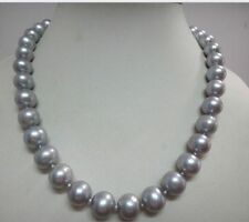GORGEOUS 10-11 MM NATURAL TAHITIAN GRAY PEARL NECKLACE 18'' 14K