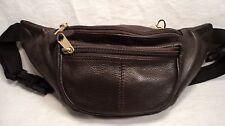 ILI 6232 Brown Leather Medium Waist Pouch