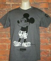MENS NEFF DISNEY COLLECTION MICKEY MOUSE CHARCOAL DARK GRAY T-SHIRT SIZE S