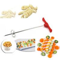 2pcs/set Vegetables Spiral Knife Potato Cucumber Chopper Spiral Slicer Cutter YE