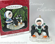 1998 Hallmark Frosty Friends Keepsake Ornament Penguins Caroling 19th in Series