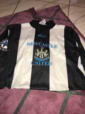 Vntg Newcastle United Football Club Soccer Goalie Jersey Asics XL Made In UK
