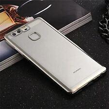 Coque Silicone Transparente TPU Contour Chrome Argent Silver Huawei P9, P9 Lite